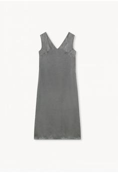 9e19c350995 Pomelo Midi Side Slits Loose Dress - Grey S  59.00. Sizes XS S M L