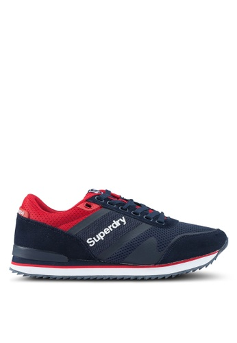 Superdry red and navy Fero Runner Trainers 1A360SHB0C8F96GS_1