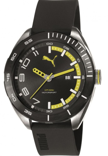 Puma black and yellow Puma Octane II  Black/Yellow Silicon Rubber Watch PU440AC82CVTSG_1