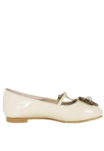 Jacque beige Guccie Beige Flats JA262SH16KDFMY_1