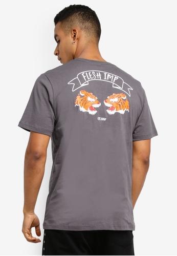 Flesh IMP grey Siberian Printed T-Shirt BD88FAA8533350GS_1