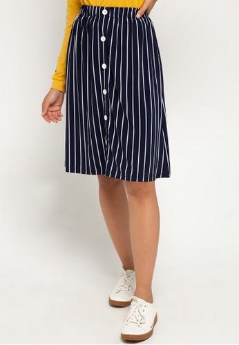 Ninety Degrees white and navy Carendish Skirt NI420AA0WDSNID_1