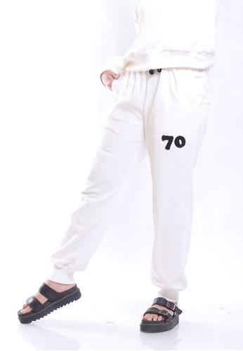 Hardware white HARDWARE HAREM VELOUR PANTS 34099AAEF4B8C0GS_1