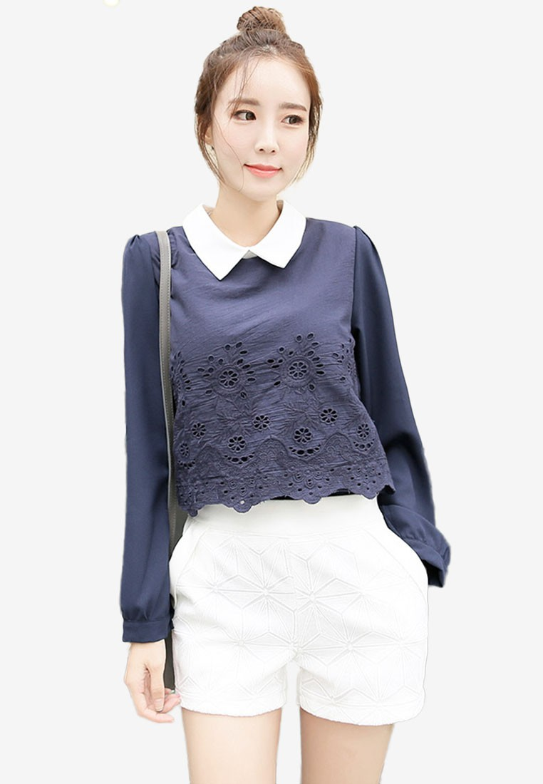 Eyelet Embroidery Detail Top