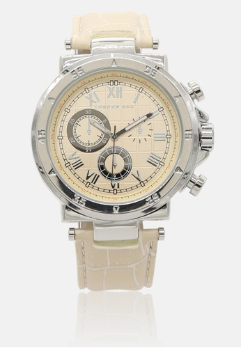 London Rag beige Women's Beige Analogue Watch With PU Leather Strap 337BEAC2F2FB45GS_1