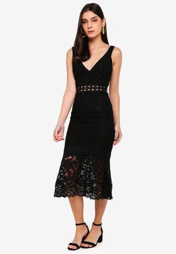 Bardot black Fiona Trumpet Dress 2A977AAFE56F42GS_1
