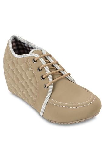 內esprit台灣門市增高繫帶楔型運動鞋, 女鞋, 鞋