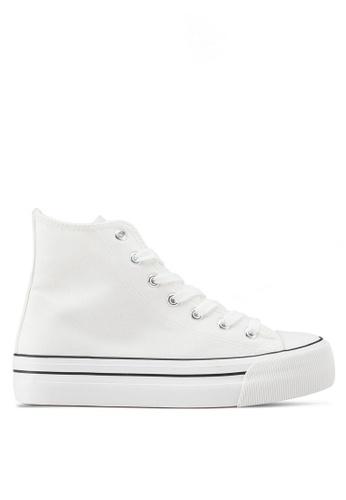 Rubi white Platform Jemma High Top Sneakers 7CAFASH534278EGS_1