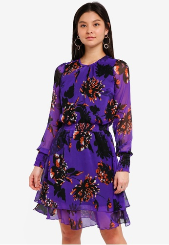 Y.A.S purple Filukka O Neck Dress 8C455AAB0B1488GS_1