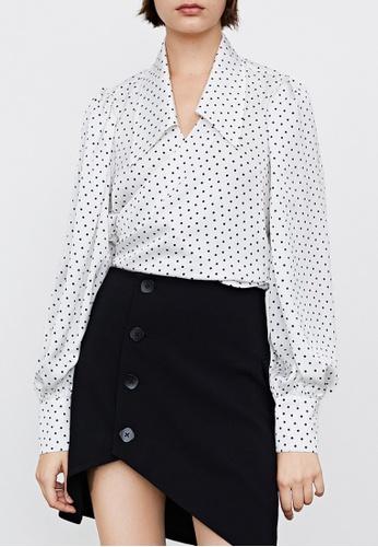 Urban Revivo white Polka Dots Wrap Blouse 41E41AAD1119C1GS_1