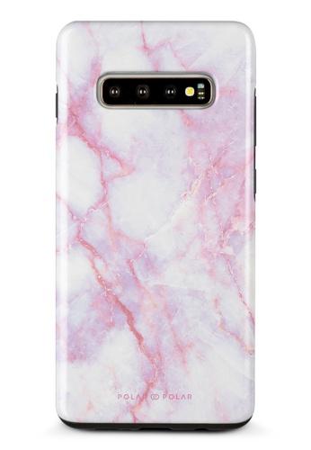 Polar Polar pink Pink White Samsung Galaxy S10 Plus Dual-Layer Protective Phone Case (Glossy) 995B3AC4D6AA49GS_1