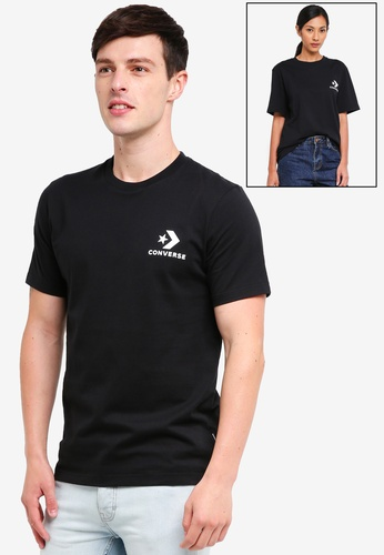 d535940674a Converse black Converse All Star Chevron Left Chest Tee 72BD1AA6BAF627GS 1.  CLICK TO ZOOM