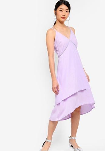 Something Borrowed 紫色 層次蕾絲鏤空洋裝 6BAE4AA9EA37DFGS_1