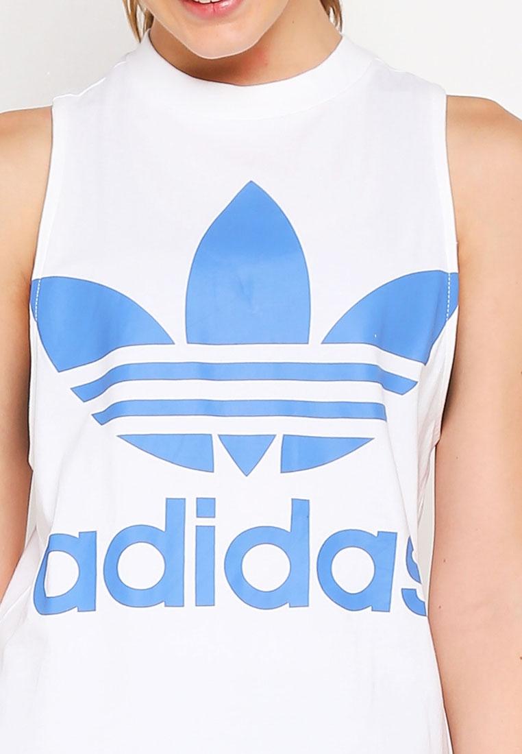 Blue adidas originals tank Super trefoil adidas White xRq1Yx