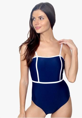 OOTD blue Cage Style Maillot One Piece Monokini Swimwear 6B8EFUS0B0F5BFGS_1