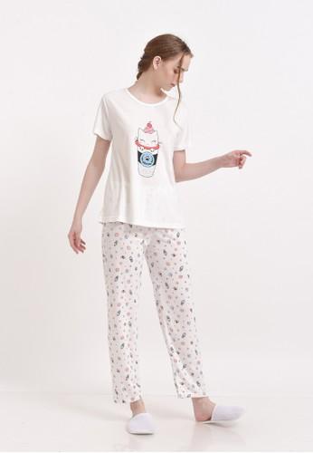 XAYANA Pyjama Set Catpuccino Star White 2FD37AA965EB9BGS_1