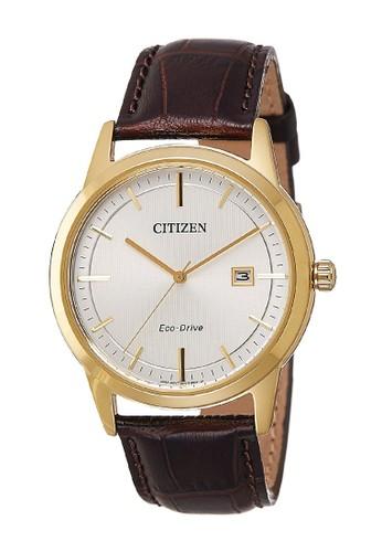 Citizen brown Citizen Jam Tangan Pria - Brown Gold - Leather Strap - AW1233-01A CE5F5ACC15FF10GS_1
