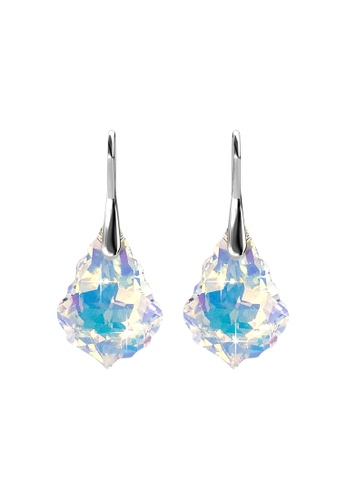 Her Jewellery silver Crystal Stone Hook Earrings (Small, A Rainbow) - Made with Premium grade crystals from Austria DC687ACCCCF1A3GS_1