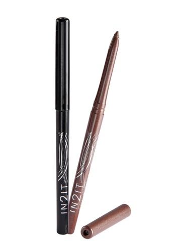 IN2IT black Gel Stay Waterproof Gel Liner Pen In Very Black & Pearl Taupe IN779BE64DVNPH_1