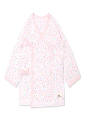 Organic mom pink Organic Cotton Heidi Floral New Born Swaddle Gown 860B1KA76A15E9GS_1