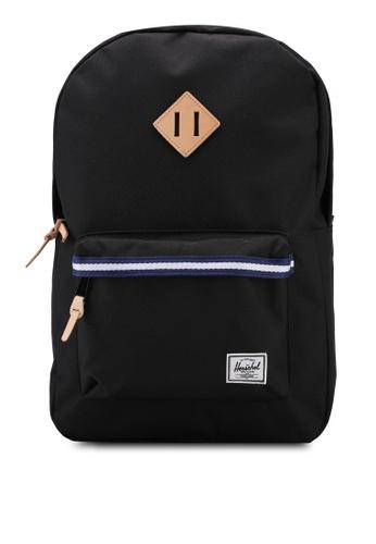 Herschel black Heritage Backpack 32D76AC56FDAA6GS_1