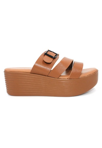 midzone brown YLY Lady Comfortable Sandals MI949SH0RW66MY_1