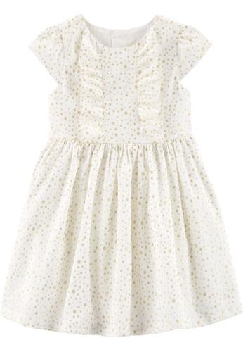 Carter's white CARTER'S Girl Ivory Dot Dress A2E3BKA2888D04GS_1