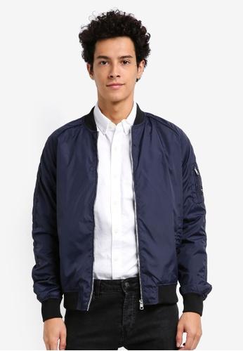 Calvin Klein 海軍藍色 Omri Bomber Jacket - Calvin Klein Jeans 5131AAAC6AE140GS_1