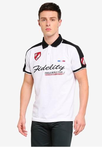 Fidelio white Fidelity Embroidery Polo Shirt 6549FAA561A87CGS_1