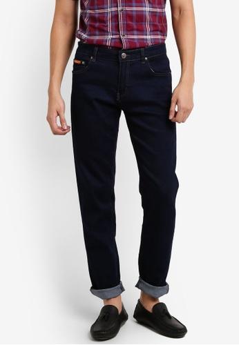 Fidelio 藍色 518 Slim Fit Stretchable Denim Jeans FI826AA06JYNMY_1