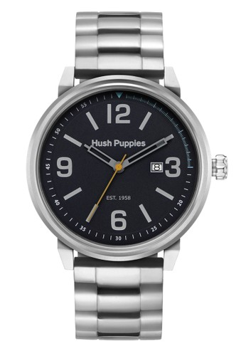 Hush Puppies Est. 1958 Men's Watch HP 3841M.1502 Black Silver Stainless Steel