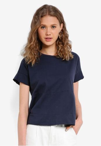 Jack Wills navy Abervale Tiered T-Shirt B5219AA3B5DC7CGS_1