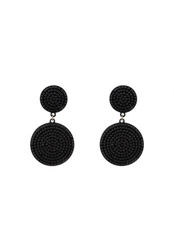 Rubi Black Pom Statement Earrings 124ac0851d88gs 1