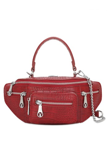 PLAYBOY BUNNY red Top Handle Sling Bag D05DCACB3447DAGS_1
