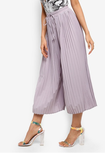 MISSGUIDED grey Pleated Culottes 3BCE7AA4C2644CGS_1