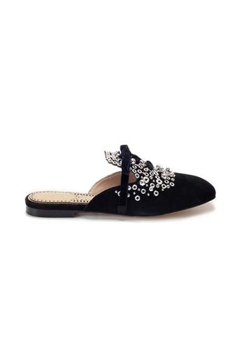 Shu Talk 黑色 Amaztep 綁帶涼鞋 CBAD2SHE600103GS_1