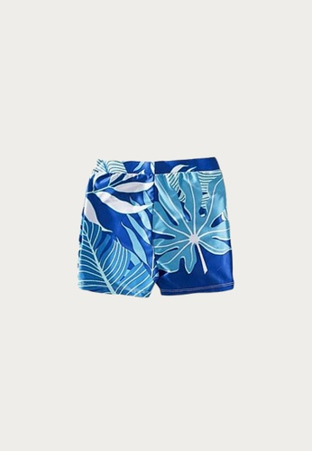 Mommy Hugs white and blue Tropical Blue Twinning Swimwear - Boy Version 6E088KAEF538CCGS_1