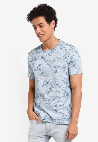Burton Menswear London blue Light Blue All Over Print T-Shirt 857E5AAAB1799FGS_1