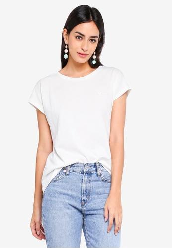 Vero Moda white Edin Short Sleeve T-Shirt CD681AAF956CCFGS_1