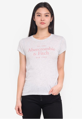Abercrombie & Fitch grey Corp Lockup Color Rollout Top 467ACAAD299EB6GS_1