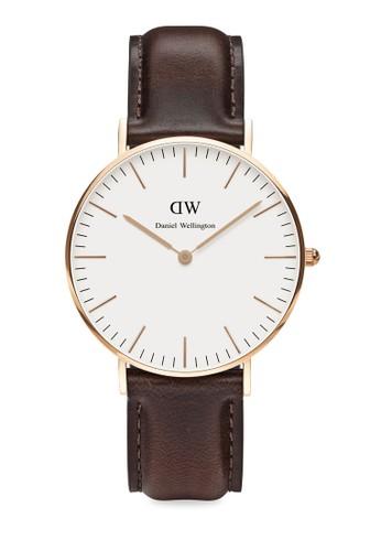 Classic Bristol-Watch Rose gold 36mm,esprit 台中 錶類, 皮革錶帶