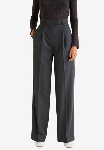 Mango grey High-Waist Straight Trousers 75527AAEF329F1GS_1