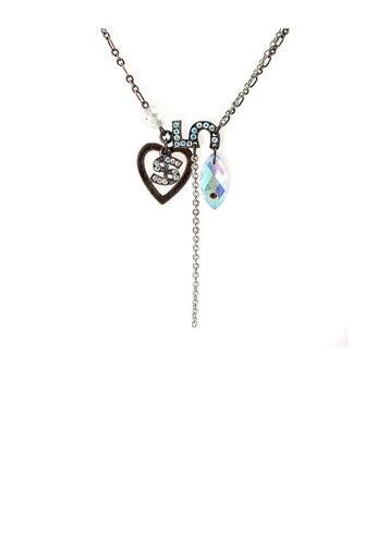 Glamorousky silver Trendy Necklace B0253ACB77AE51GS_1