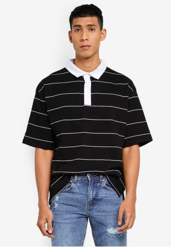 Cotton On 黑色 Oversized 短袖POLO衫 6056FAA00796DAGS_1