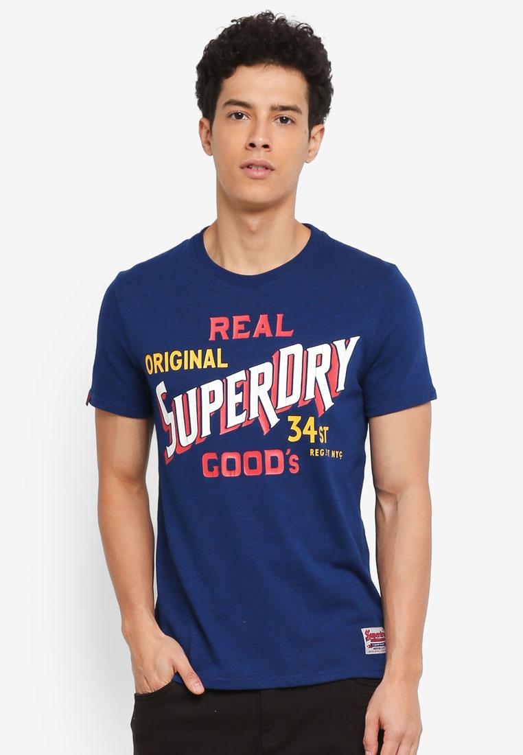 Tee 34st Grindle Sonix Blue Superdry Goods RxwxqB4P5