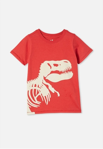 Cotton On Kids red Max Short Sleeve Tee 3497BKA5F1B09DGS_1