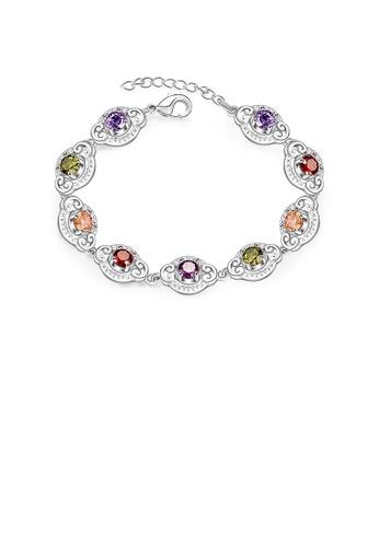 Glamorousky multi Fashion Sparkling Colored Cubic Zircon Bracelet 3A3CAACC5E93E4GS_1