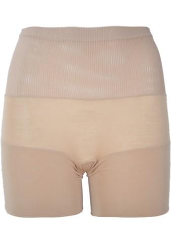 Cynthia brown Vertical Lines Panty-Mid Thigh-Brown CY646US41RVUID_1