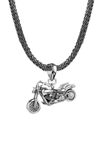 KUZZOI silver Perhiasan Pria Perak Asli - Silver Kalung Buddha Motorcycle Pendant 0E2C0AC924F8A6GS_1