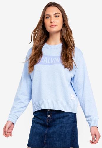 Calvin Klein blue Os Swr Panel Sweatshirt 5B164AAFA847A8GS_1
